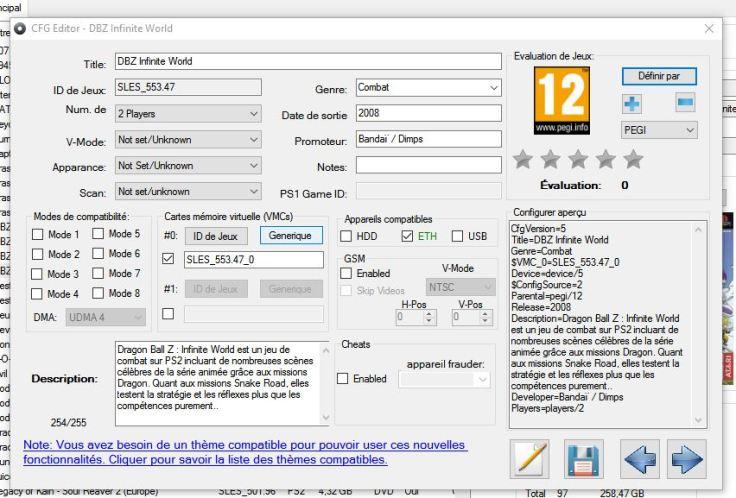 11-Modifer infos & création carte mémoire virtuelle